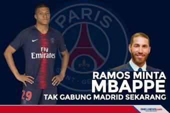 Ramos Minta Mbappe jangan Gabung Real Madrid Sekarang