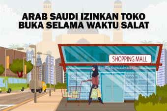 Arab Saudi Izinkan Toko-toko Buka selama Waktu Salat