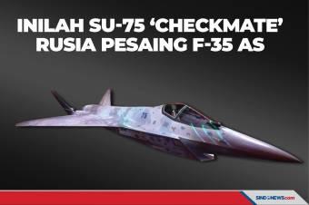 Inilah Jet Tempur Siluman Su-75 'Checkmate' Rusia Pesaing F-35 AS