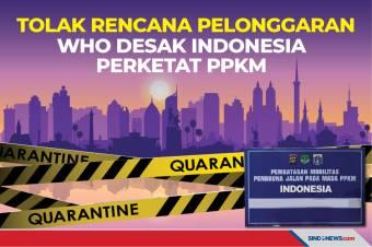 Tolak Rencana Pelonggaran, WHO Desak Indonesia Perketat PPKM