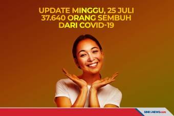 Update Minggu, 25 Juli 37.640 Orang Sembuh dari Covid-19