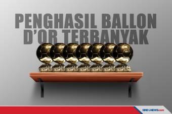 Klub Penghasil Pemain Terbanyak yang Menangkan Ballon d'Or