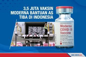 3,5 Juta Vaksin Moderna Bantuan Amerika Tiba di Indonesia