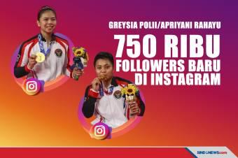 Greysia dan Apriyani Dapat 750 Ribu Followers Baru di Instagram