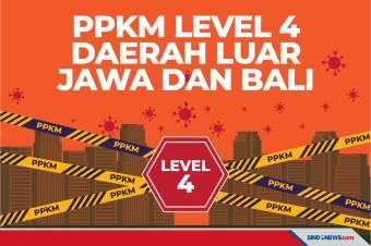 Daftar Daerah Luar Jawa dan Bali yang Terapkan PPKM Level 4