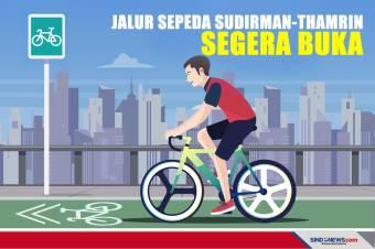 Jalur Sepeda Sudirman-Thamrin Segera Dibuka Polda Metro Jaya