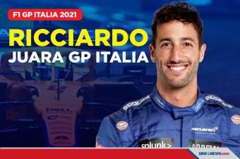 Hasil Formula 1 GP Italia 2021: Daniel Ricciardo Juara