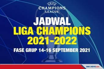 Jadwal Liga Champions 2021-2022: Fase Grup 14-16 September 2021