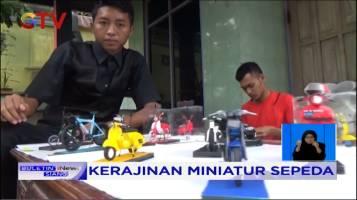 Pemuda di Jombang Membuat Miniatur Sepeda dari Sampah