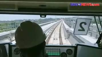 Target Beroperasi Akhir 2021, LRT Cibubur-Cililitan Mulai Uji coba