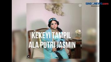 Kekeyi Percaya Diri Tampil Ala Putri Jasmine dari Timur Tengah