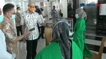 Ganjar Pranowo Meninjau Persiapan Vaksinasi Serentak di Jateng