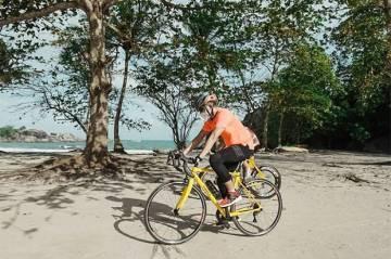 Tinjau Track Triathlon Series di Belitung, Sandiaga Uno: Spot Berenang Indah, Jalan Sepeda Mulus