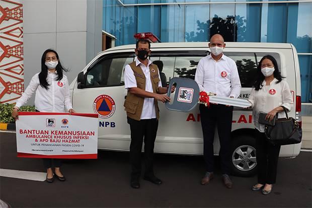 Super Indo Serahkan Ambulance Pasien Infeksi pada BNPB dan Pemprov DKI Jakarta