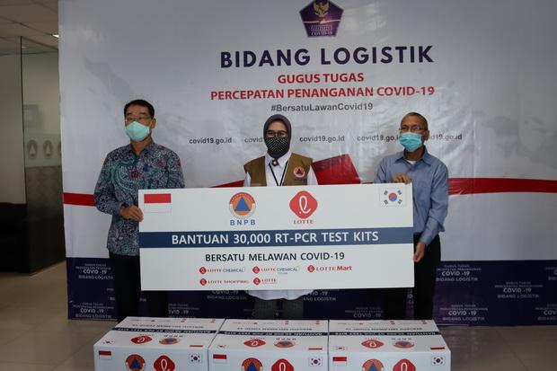 Lotte Group Donasikan Puluhan Ribu Test Kit Covid-19 Senilai Rp3,4 M
