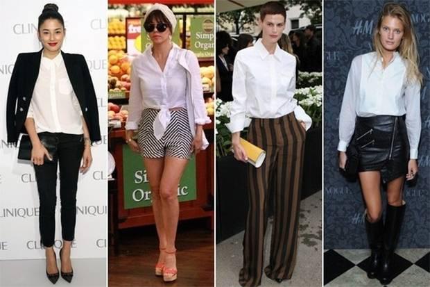 Inspirasi Padu Padan Kemeja Putih dengan Fashion Item Lain