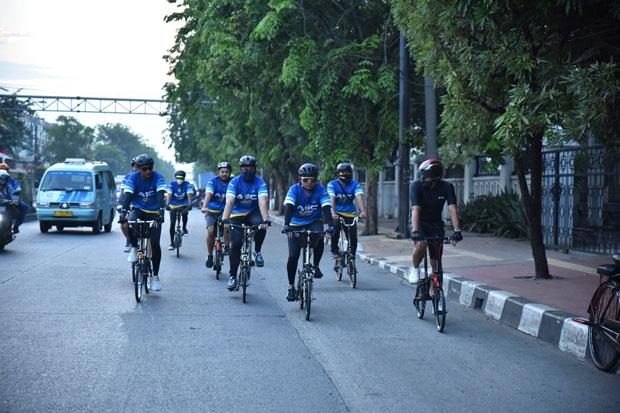 Dirikan Komunitas Sepeda Sahroni Kampanyekan Bersepeda Aman