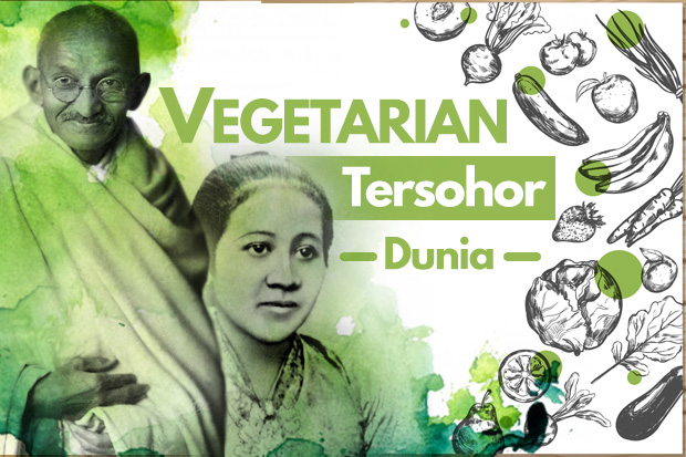 Laku Hidup Vegetarian Tokoh Dunia, dari RA Kartini hingga Gandhi