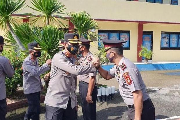 91 Personel Polres Pangkep Naik Pangkat