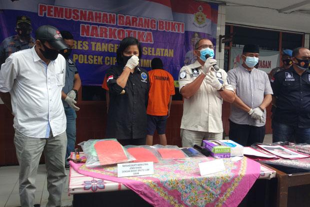 2 Pengedar Sabu di Tangsel Terancam Hukuman 20 Tahun Penjara