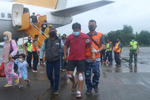TNI AU Kembali Evakuasi Korban Gempa Sulbar Pakai Pesawat Boeing 737