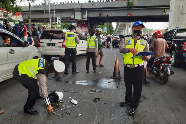 Pengendara Motor Tewas Terlidas Truk di Jl AP Pettarani Makassar