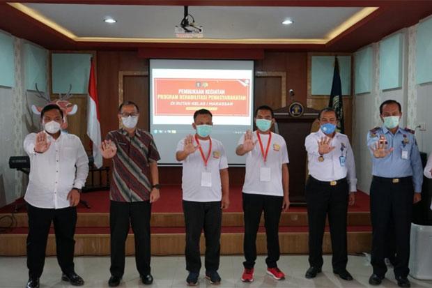 Ratusan WBP Kasus Narkoba Rutan Makassar Jalani Program Rehabilitasi