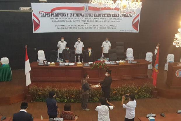 DPRD Tana Toraja Gelar Paripurna Umumkan Bupati dan Wabup Terpilih