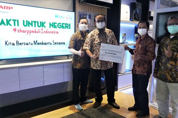 Sharp Indonesia Bantu Korban Bencana Alam di Sejumlah Daerah