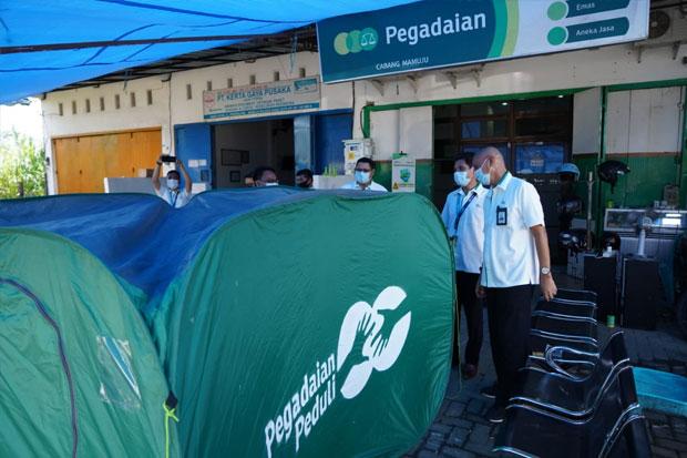 Pegadaian Makassar Kembali Salurkan Bantuan untuk Korban Gempa Sulbar