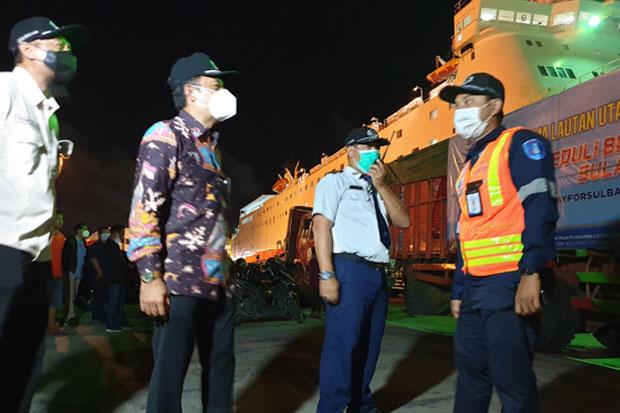 Dharma Laut Utama Salurkan Bantuan Gempa ke Sulbar