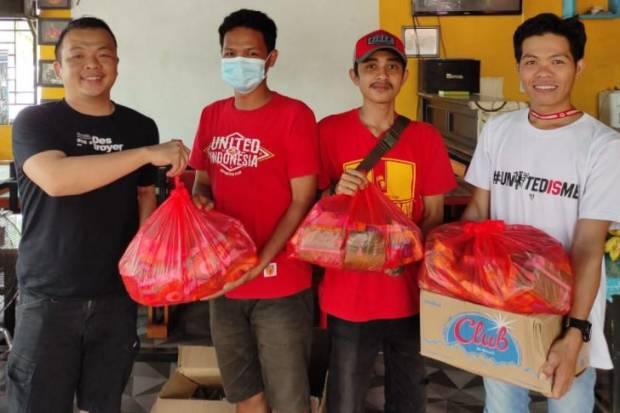 Fans MU dan Chelsea di Makassar Kirim Bantuan Kemanusiaan ke Sulbar