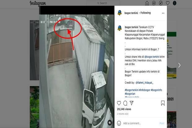 Nekat Hadang Truk, Seorang Remaja di Bogor Tewas Terlindas