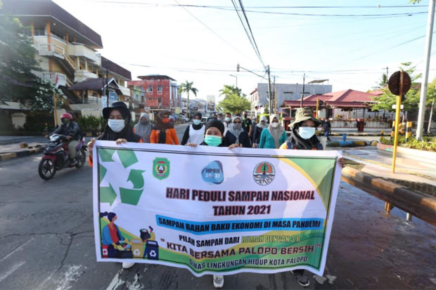 Peringati HPSN 2021, Pemkot Palopo Dorong Pemanfaatan Sampah