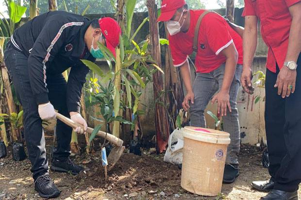 Gerakan Politik Hijau, PDI Perjuangan Tanam Pohon di Bantaran Kali Ciliwung
