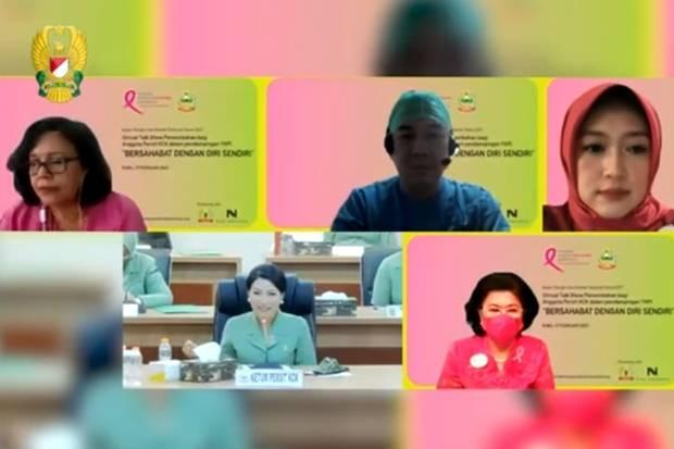 Ketum Persit KCK Kirana Semangati Para Pejuang Kanker Payudara