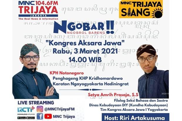 Ngobrol bareng Pangeran tentang Aksara Jawa, Ikuti Live Streaming IG Live dan YouTube MNC Trijaya!