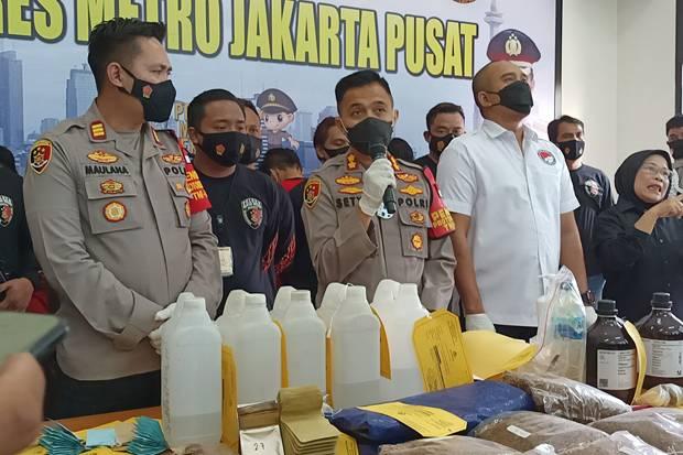 Dijual via Instagram, 9,8 Kg Ganja Sintetis Disita Polres Jakarta Pusat