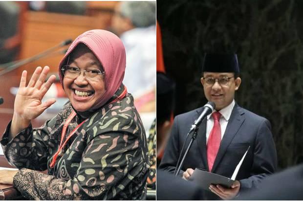 Survei Elektabilitas Cagub DKI Jakarta: Risma Teratas, Anies Lemah
