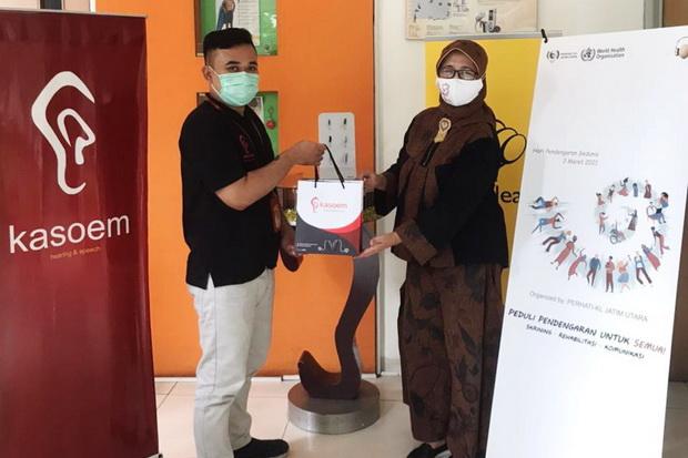 Donasi Alat Bantu Pendengaran, Ini Harapan Kasoem Hearing