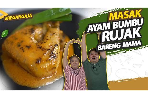 Masak Ayam Bumbu Rujak, Audrey Wicaksana Ditemani Mama