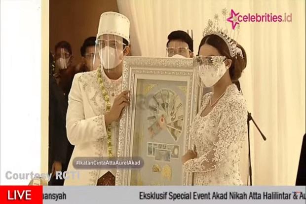 Atta Pinang Aurel dengan Mas Kawin Uang Kuno Rp 342.021