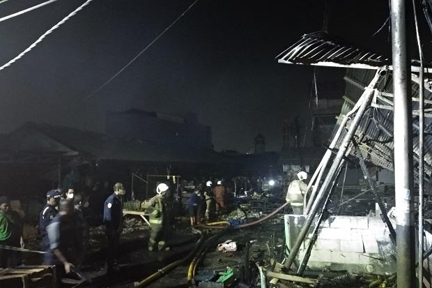 Kebakaran di Pasar Kambing Tanah Abang Padam, Api Diduga dari Korsleting Listrik