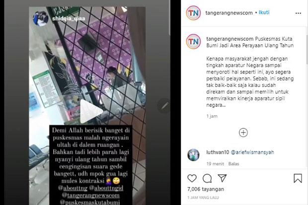Viral, Riuh Perayaan Ulang Tahun di Puskesmas Kutabumi Tangerang