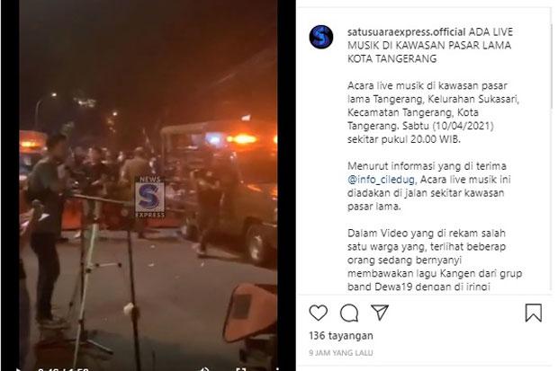 Penonton Live Musik Langgar Prokes, Satpol PP Tangerang Tampak Cuek