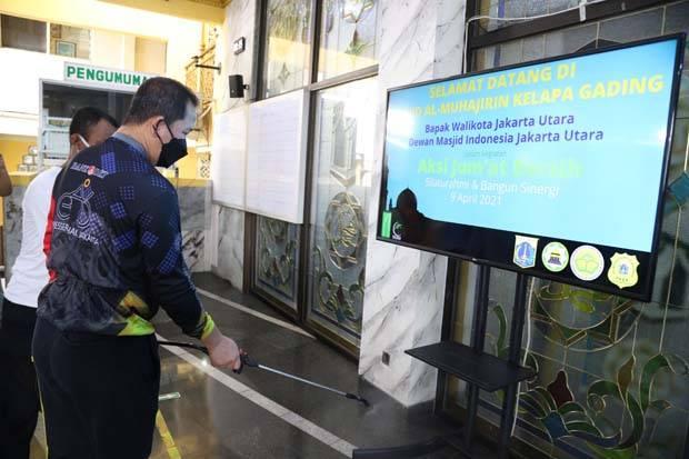 Cegah COVID-19, DMI Jakut Minta Satgas Aktif Awasi Protokol Kesehatan di Masjid dan Musala