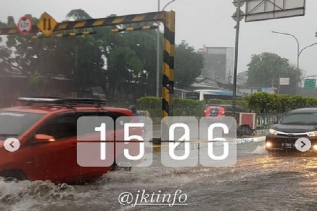 Diguyur Hujan, Sejumlah Ruas Jalan di Jakarta Tergenang
