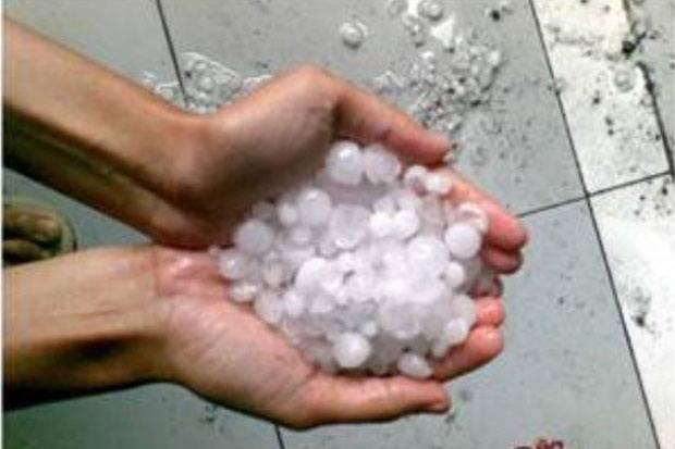 Ternyata Hujan Es Turun di Empat Kecamatan Kota Bekasi