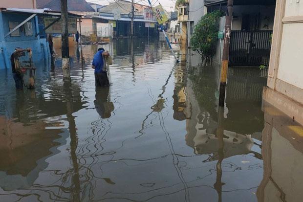 Mulai Surut, Banjir Bekasi Sisakan 2 Titik dengan Ketinggian 30 Cm
