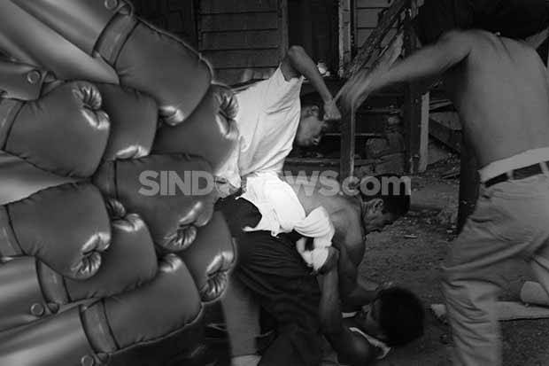 Tepergok Beraksi di Pondok Cabe, Maling Motor Dihakimi Massa
